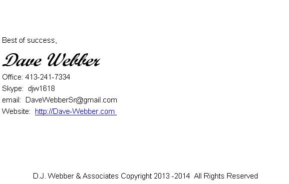 Dave Webber Signature File Image