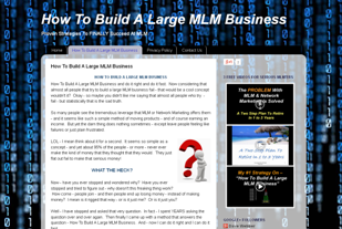 MLM Lead Generation - How To Build A Large MLM Business Site
