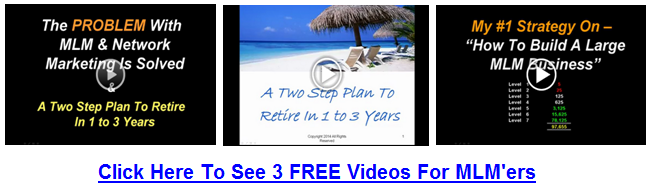 3 FreeVideos For MLM'ers