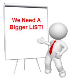 MLM Clue #2 - We Need A Bigger List
