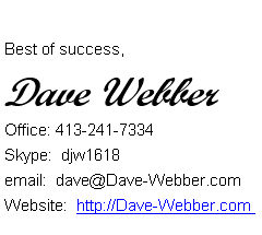 Dave Webber Sig File On Videos