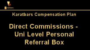 Karatbars Direct Commissions - UniLevel Personal Referral Box